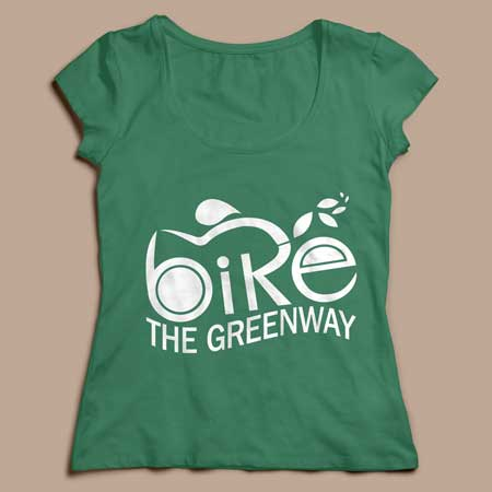 Bike the Greenway ladies' t-shirt