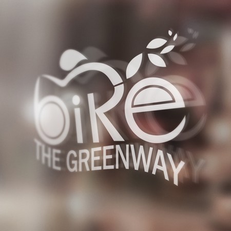 Bike the Greenway window signage