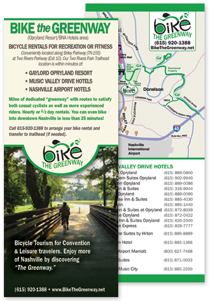 Bike the Greenway rack card