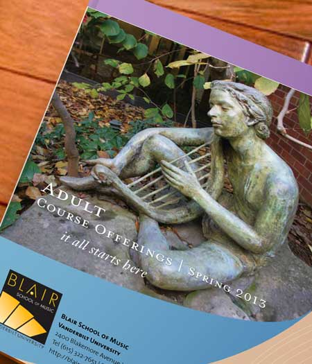 Blair School of Music brochure - front