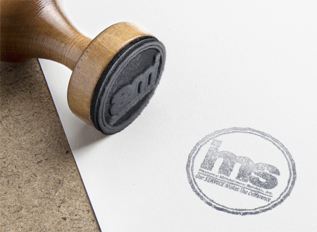 IMS Benefits rubber stamp