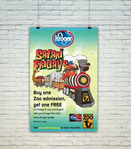 Kroger and Nashville Zoo Safari Fridays poster