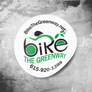 Bike the Greenway bicycle sticker