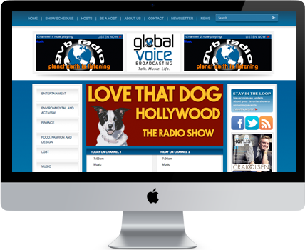 Global Voice Broadcasting website design and development