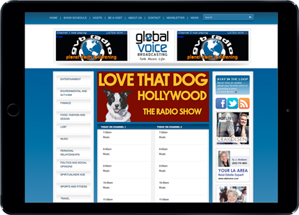 Global Voice Broadcasting responsive design