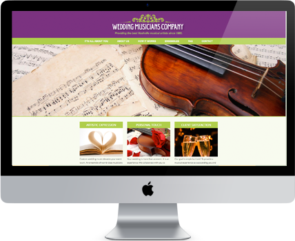 Wedding Musicians Company new website