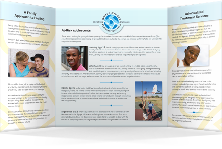Group Effort Foundation gatefold brochure