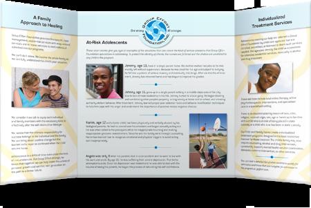 Group Effort Foundation gatefold brochure
