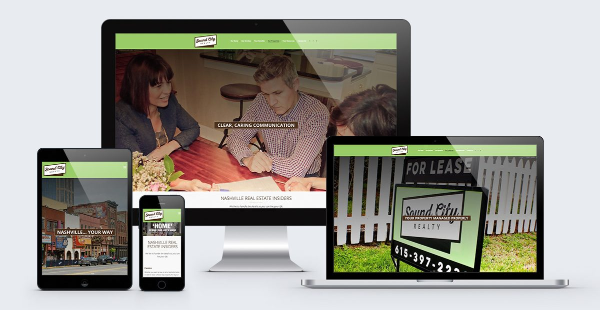 Sound City Realty: web design and development