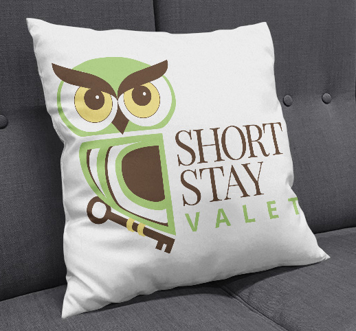 Short Stay Valet pillow design