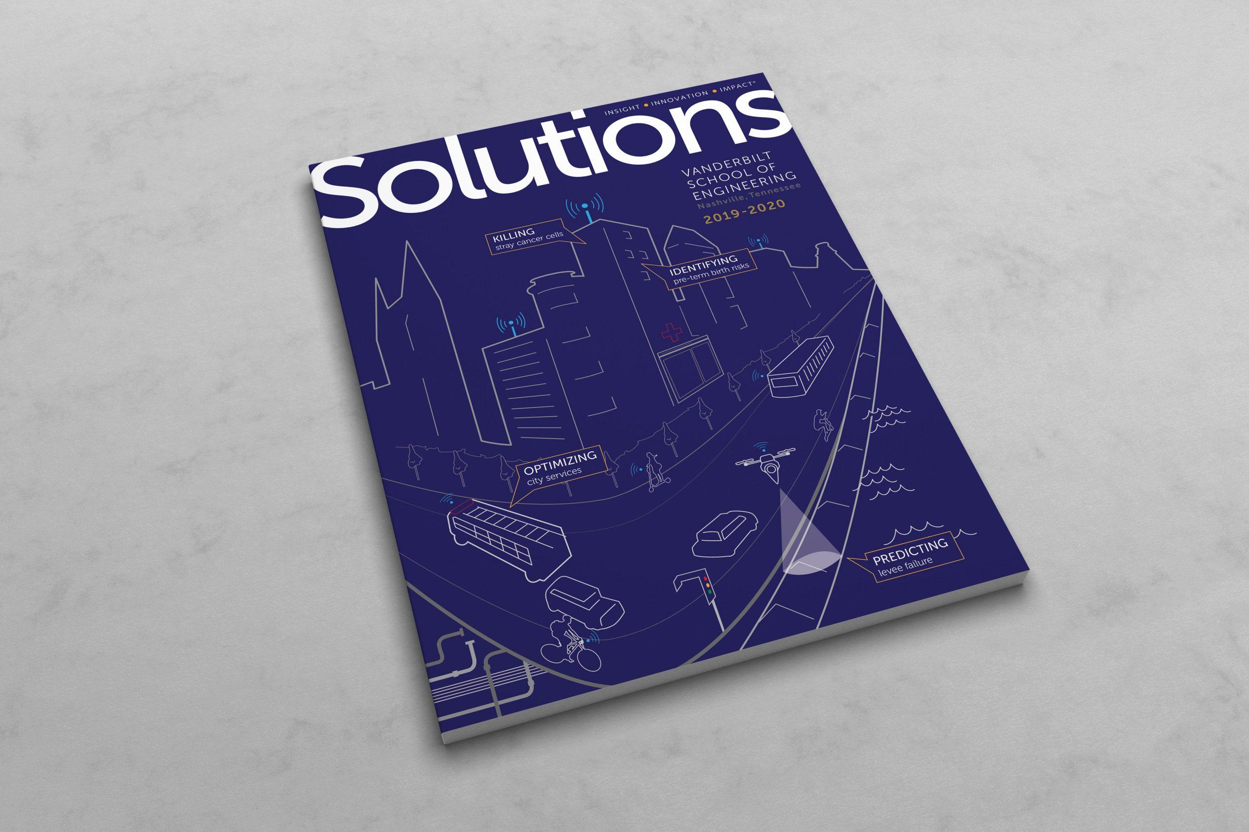 Vanderbilt University Solutions Magazine Cover Illustration 2019