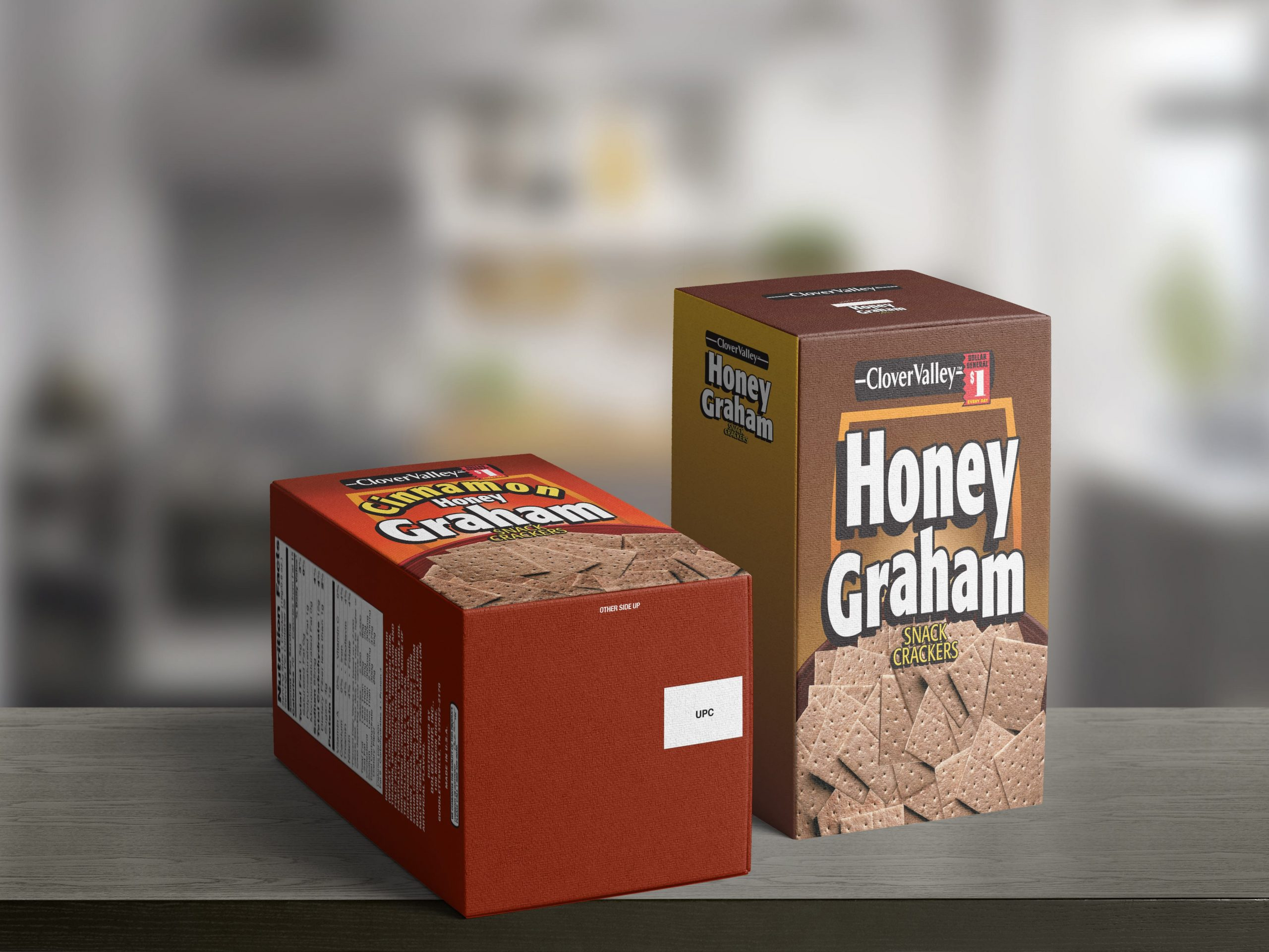 Clover Valley Graham Snack Crackers